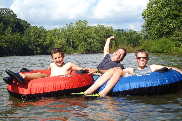 fun tubing on the New River